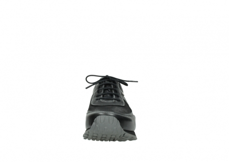wolky lace up shoes 05803 e sneaker 20009 black stretch leather_19