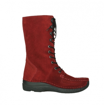 wolky mid calf boots 06210 roll fashion 40540 winter red oiled suede_1