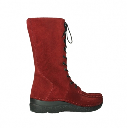wolky mid calf boots 06210 roll fashion 40540 winter red oiled suede_3