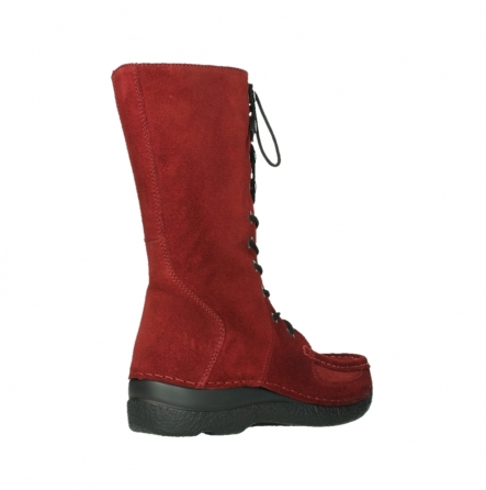 wolky mid calf boots 06210 roll fashion 40540 winter red oiled suede_4