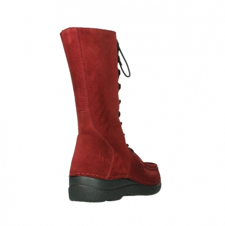 wolky mid calf boots 06210 roll fashion 40540 winter red oiled suede_5