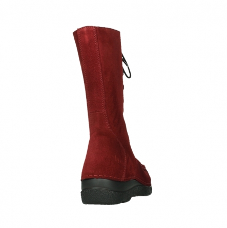 wolky mid calf boots 06210 roll fashion 40540 winter red oiled suede_6