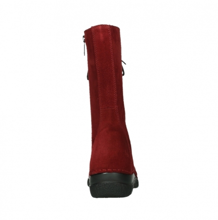 wolky mid calf boots 06210 roll fashion 40540 winter red oiled suede_7