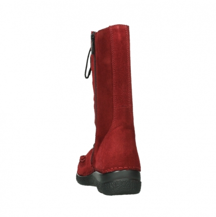 wolky mid calf boots 06210 roll fashion 40540 winter red oiled suede_8