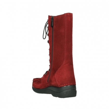 wolky mid calf boots 06210 roll fashion 40540 winter red oiled suede_9