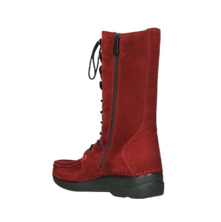 wolky mid calf boots 06210 roll fashion 40540 winter red oiled suede_10