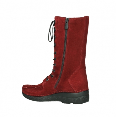 wolky mid calf boots 06210 roll fashion 40540 winter red oiled suede_11