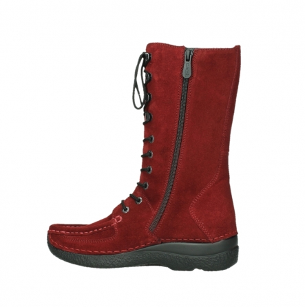 wolky mid calf boots 06210 roll fashion 40540 winter red oiled suede_12
