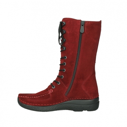 wolky mid calf boots 06210 roll fashion 40540 winter red oiled suede_13