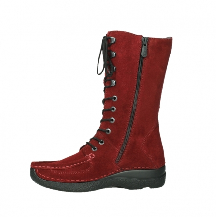 wolky mid calf boots 06210 roll fashion 40540 winter red oiled suede_14