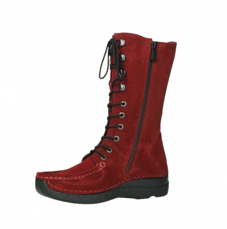 wolky mid calf boots 06210 roll fashion 40540 winter red oiled suede_15