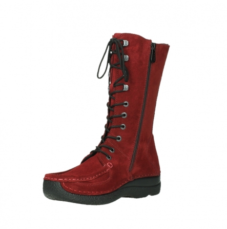 wolky mid calf boots 06210 roll fashion 40540 winter red oiled suede_16