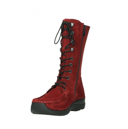 wolky mid calf boots 06210 roll fashion 40540 winter red oiled suede_17