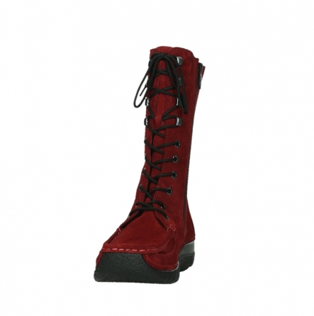 wolky mid calf boots 06210 roll fashion 40540 winter red oiled suede_18
