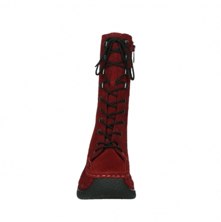 wolky mid calf boots 06210 roll fashion 40540 winter red oiled suede_19