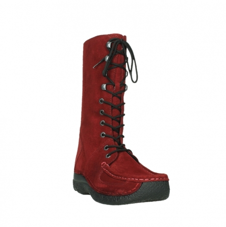 wolky mid calf boots 06210 roll fashion 40540 winter red oiled suede_21
