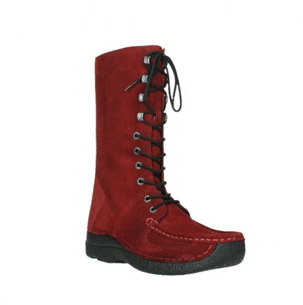 wolky mid calf boots 06210 roll fashion 40540 winter red oiled suede_22