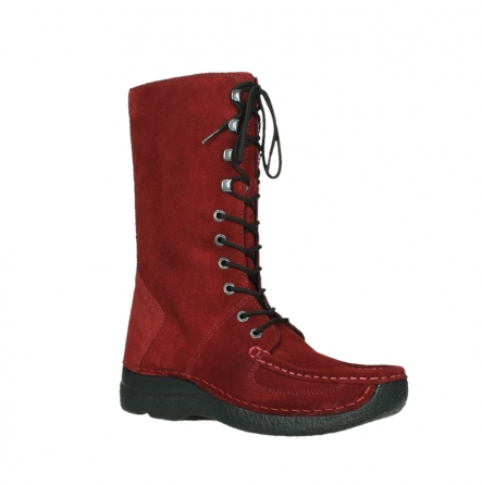wolky mid calf boots 06210 roll fashion 40540 winter red oiled suede_23