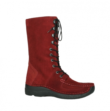 wolky mid calf boots 06210 roll fashion 40540 winter red oiled suede_24