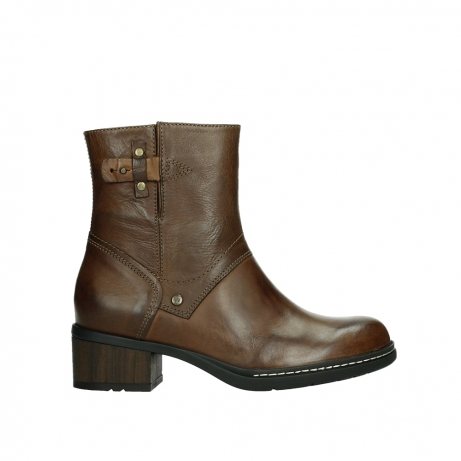 wolky ankle boots 01262 drayton 30430 cognac leather