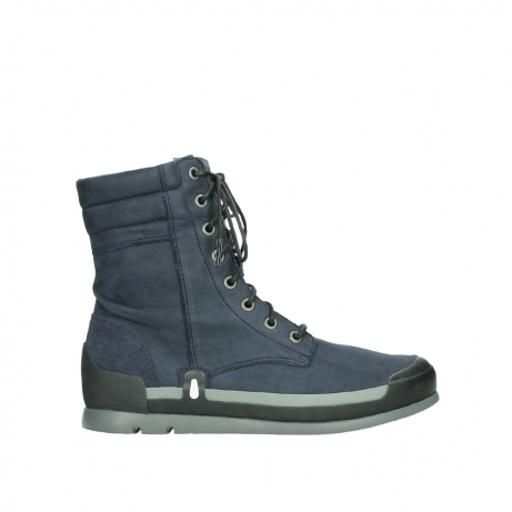 wolky lace up boots 02775 adams 13800 blue nubuckleather
