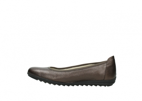 wolky ballet pumps 00125 lausanne 81300 brown metallic leather_1