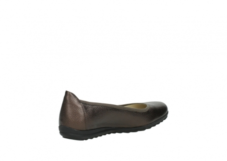 wolky ballet pumps 00125 lausanne 81300 brown metallic leather_10