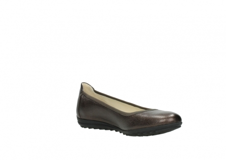 wolky ballet pumps 00125 lausanne 81300 brown metallic leather_16