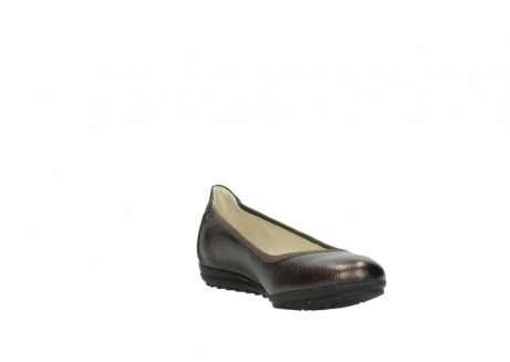 wolky ballet pumps 00125 lausanne 81300 brown metallic leather_17