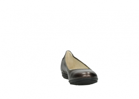 wolky ballet pumps 00125 lausanne 81300 brown metallic leather_18