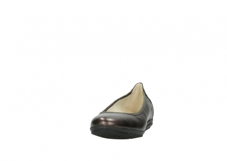 wolky ballet pumps 00125 lausanne 81300 brown metallic leather_20