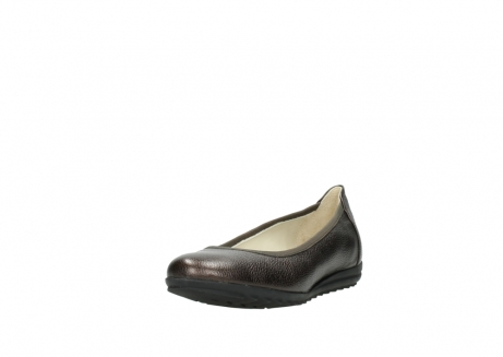 wolky ballet pumps 00125 lausanne 81300 brown metallic leather_21