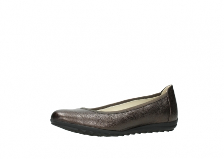 wolky ballet pumps 00125 lausanne 81300 brown metallic leather_23