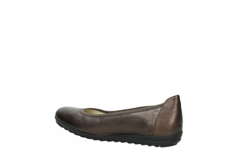 wolky ballet pumps 00125 lausanne 81300 brown metallic leather_3