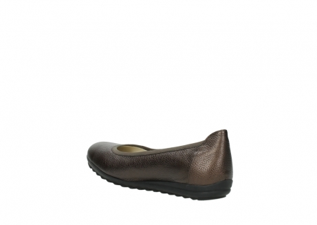 wolky ballet pumps 00125 lausanne 81300 brown metallic leather_4
