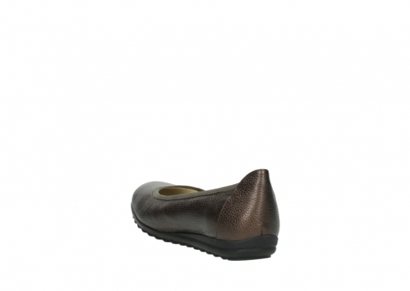wolky ballet pumps 00125 lausanne 81300 brown metallic leather_5