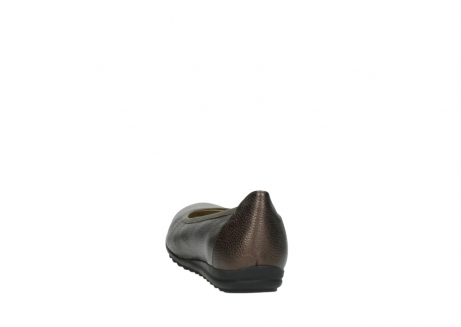 wolky ballet pumps 00125 lausanne 81300 brown metallic leather_6