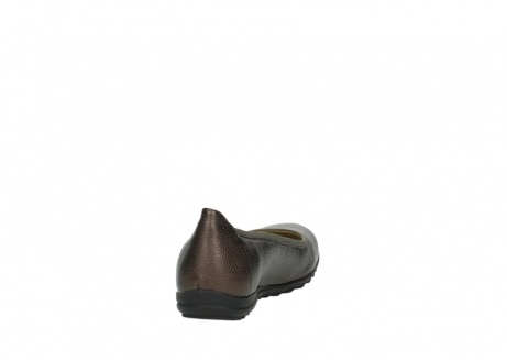 wolky ballet pumps 00125 lausanne 81300 brown metallic leather_8