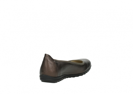 wolky ballet pumps 00125 lausanne 81300 brown metallic leather_9