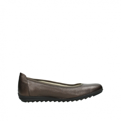 wolky ballet pumps 00125 lausanne 81300 brown metallic leather