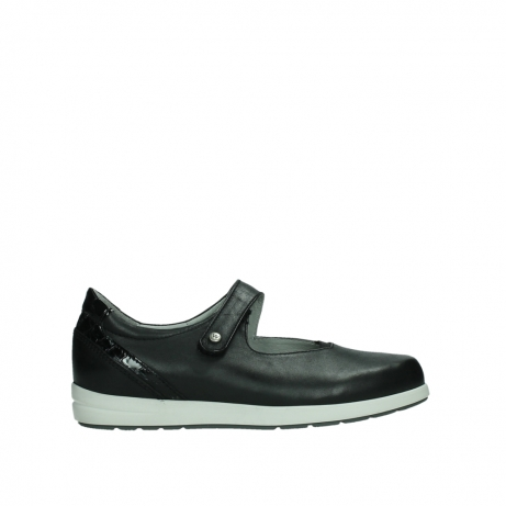 wolky mary janes 02421 electric 26070 black leather