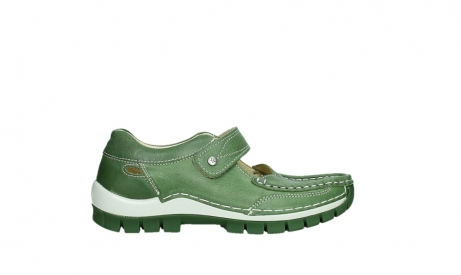 wolky mary janes 04709 step 35735 velvet green leather_1