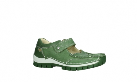 wolky mary janes 04709 step 35735 velvet green leather_3