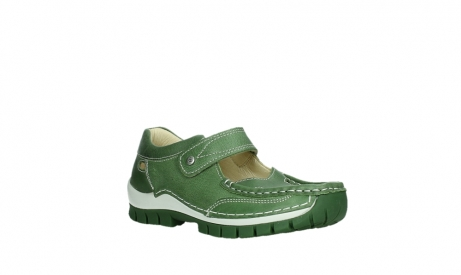 wolky mary janes 04709 step 35735 velvet green leather_4