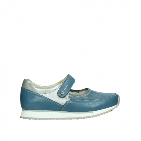 wolky mary janes 05805 e step 87860 steel blue pearl stretch leather