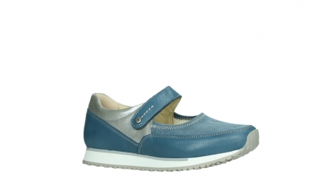 wolky mary janes 05805 e step 87860 steel blue pearl stretch leather_3
