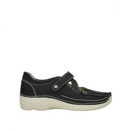 wolky mary janes 06291 seamy cross 10070 black nubuck