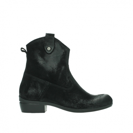 wolky ankle boots 00960 finley 45000 black suede