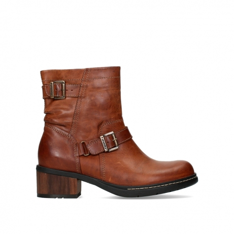 wolky ankle boots 01265 raymore 30430 cognac leather