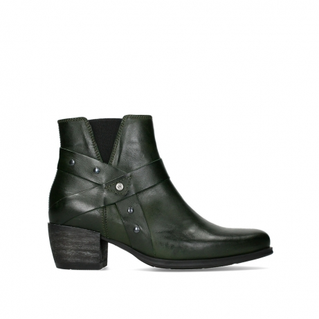 wolky ankle boots 02875 silio 30730 forest green leather